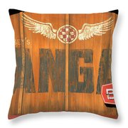 Hangar Bar Entrance Sign Throw Pillow