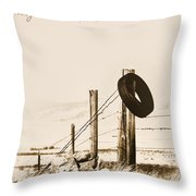 Hangin Around Montana Throw Pillow