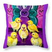 Hangin' With My Peeps Throw Pillow