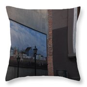 Hanging Art In N Y C  Throw Pillow