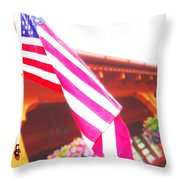 Hanging Beauty 3 Throw Pillow