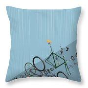 Hanging Bike Throw Pillow