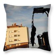 Hanging Bull Throw Pillow