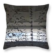 Hanging Butterflies B W 2  Throw Pillow