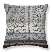 Hanging Butterflies B W  Throw Pillow
