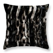Hanging Chains Throw Pillow