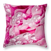 Hanging Droplets Throw Pillow
