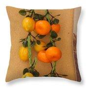 Hanging Fruit Throw Pillow
