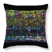 Hanging Grapevines Throw Pillow