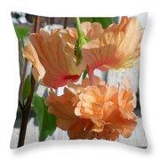 Hanging Hibiscus Throw Pillow