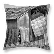 Hanging In - Bw Throw Pillow