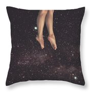 Hanging In Space Throw Pillow