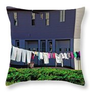 Hanging Laundry Throw Pillow