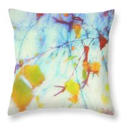 Hanging Leaves Throw Pillow
