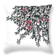 Hanging Leaves IIi Throw Pillow