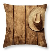 Hanging My Hat Throw Pillow