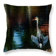 Hanging On The Rocks Throw Pillow