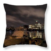 Hanging Onto A Cloud John Hancock Tower Boston Ma Throw Pillow