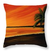 Hanging Out At The Beach #153 Throw Pillow