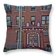 Hanging Out In Brooklyn Throw Pillow
