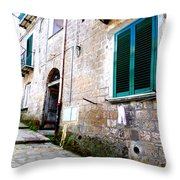 Hanging Out In Sorrento Throw Pillow