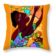 Hanging Out The Laundry 2 Throw Pillow