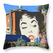Hanging Out With Elizabeth Taylor Throw Pillow