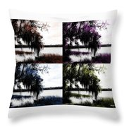 Hanging Over The Marsh Throw Pillow
