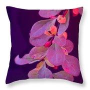 Hanging Purple Throw Pillow