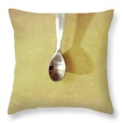 Hanging Spoon On Jute Twine Throw Pillow