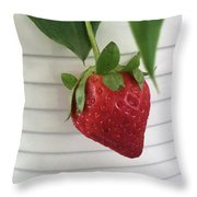 Hanging Strawberry Throw Pillow
