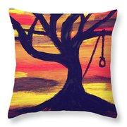 Hanging Tree Throw Pillow