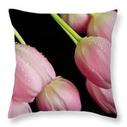 Hanging Tulips Throw Pillow by Tracy Hall