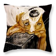 Hanging With Hazel Throw Pillow