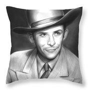 Hank Williams Throw Pillow