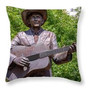 Hank Williams Statue - Cropped Throw Pillow