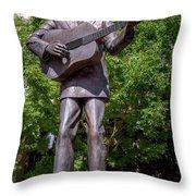 Hank Williams Statue - Montgomery Alabama Throw Pillow