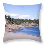 Hanko Beach Throw Pillow