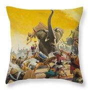 Hannibal And Scipio Throw Pillow