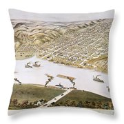 Hannibal, Missouri, 1869 Throw Pillow