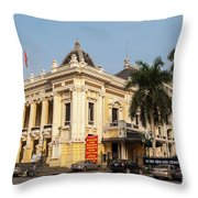 Hanoi Opera House 02 Throw Pillow