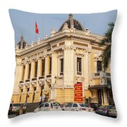Hanoi Opera House 04  Throw Pillow