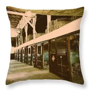 Hanover Shoe Farm Broodmare Stables Throw Pillow