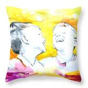 Hans En Frans Throw Pillow