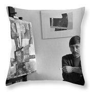 Hans Lenes Throw Pillow