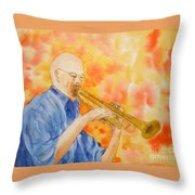 Hanson On Trumpet Throw Pillow