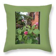 Hanson Place Brooklyn Rosebuds Throw Pillow
