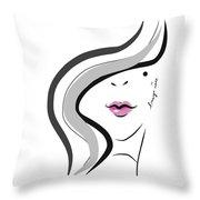 Hanyidesigns Beautiful Girl Throw Pillow