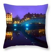 Hapenny Bridge, Dublin, Ireland Throw Pillow