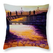 Ha'penny Bridge Dublin Throw Pillow
